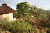 lodge masaï au bord du Rift