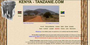 Page d'ouverture du site en 2004