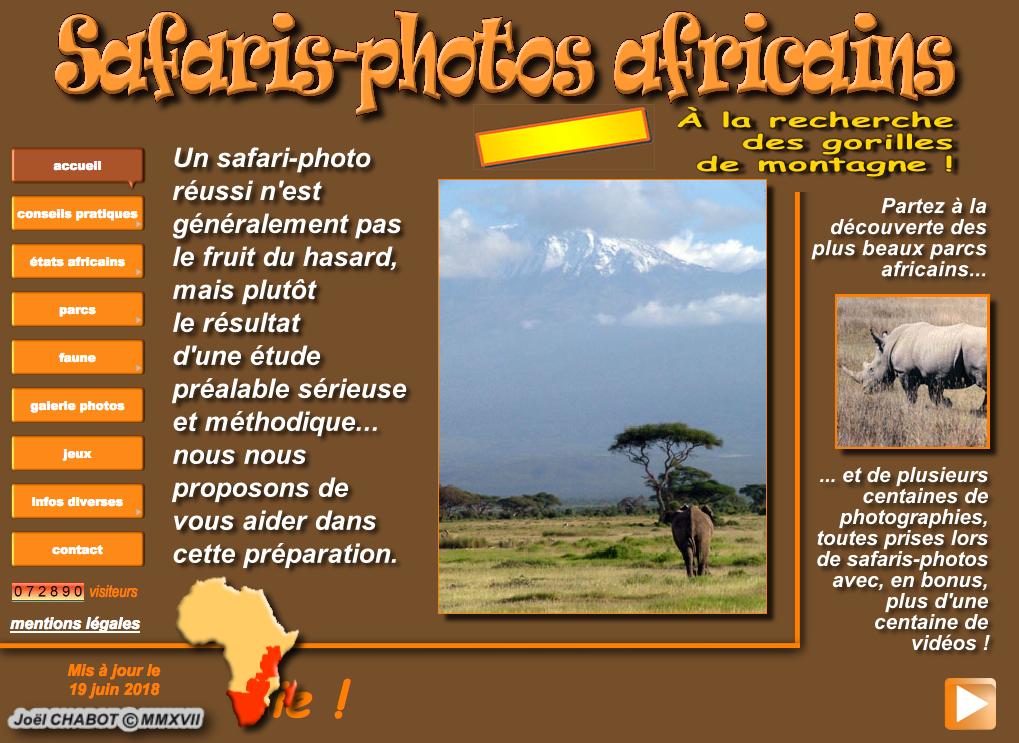 Safari photos africains
