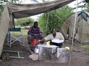 Marico, le cuisinier et Jeoffrey son aide de camp