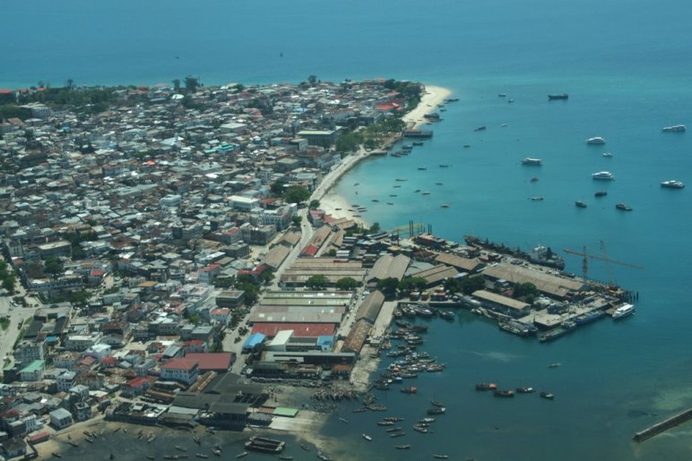 Zanzibar vu d'avion